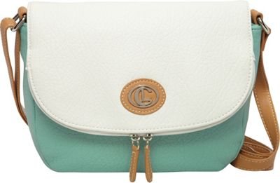 Aurielle-Carryland Contempo Pebble Saddle Cross Body Mint - Aurielle-Carryland Manmade Handbags