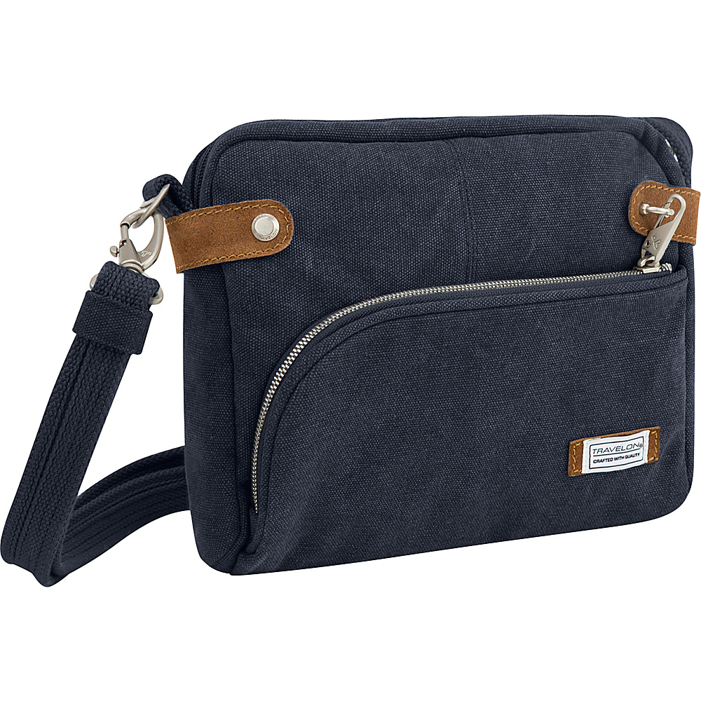 Travelon Anti-Theft Heritage Small Crossbody Bag Indigo - Travelon Fabric Handbags - Handbags, Fabric Handbags