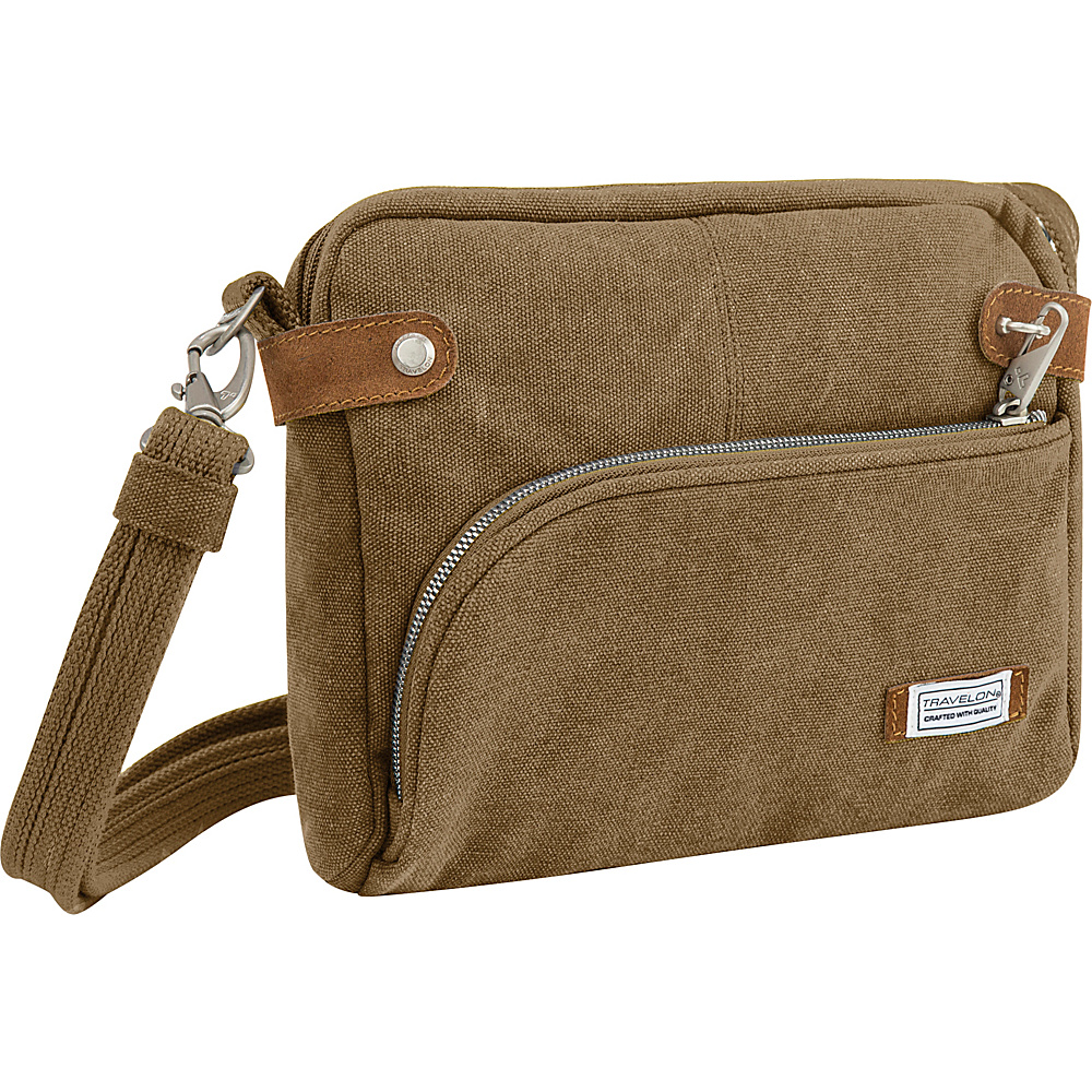 Travelon Anti-Theft Heritage Small Crossbody Bag Oatmeal - Travelon Fabric Handbags - Handbags, Fabric Handbags