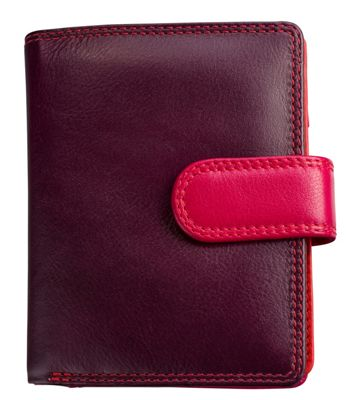 Visconti Multi Colored Small Soft Leather Ladies Wallet & Purse Plum - Visconti Women's Wallets