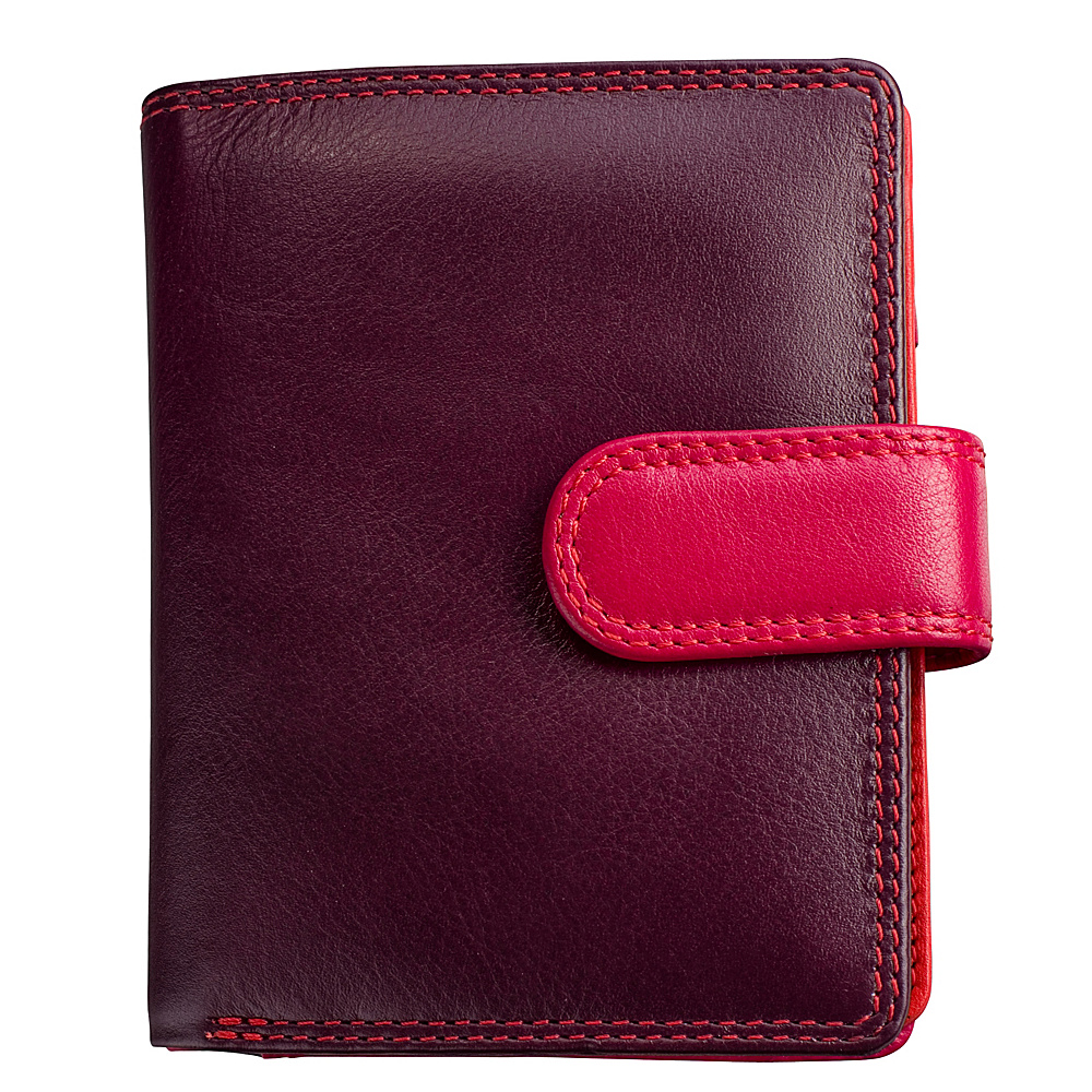 Visconti Multi Colored Small Soft Leather Ladies Wallet Purse Plum Visconti Women s Wallets