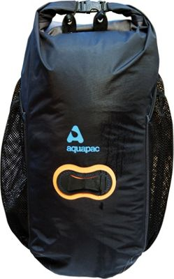 Aquapac 25L Wet & Dry Backpack Black with Hot Orange Lashtab Surround - Aquapac Day Hiking Backpacks