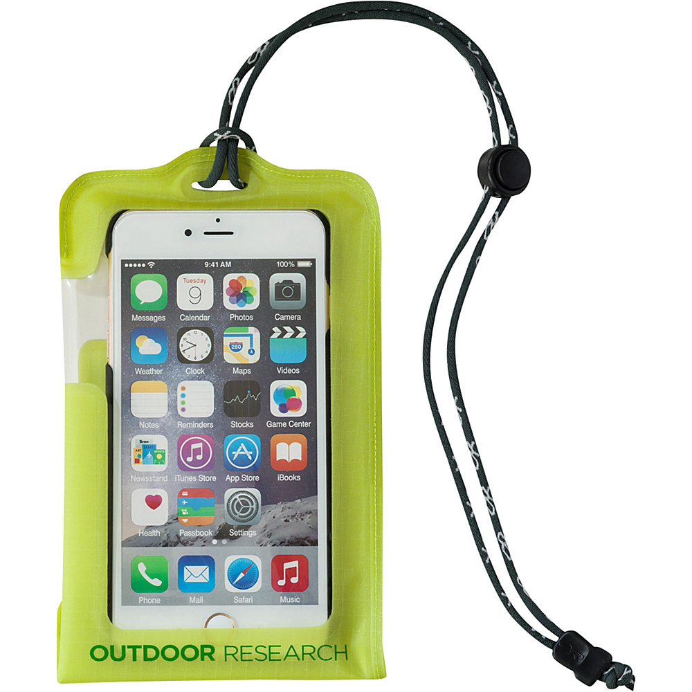 Outdoor Research Sensor Dry Pocket - Smartphone Standard Lemongrass – One Size - Outdoor Research Electronic Cases - Technology, Electronic Cases