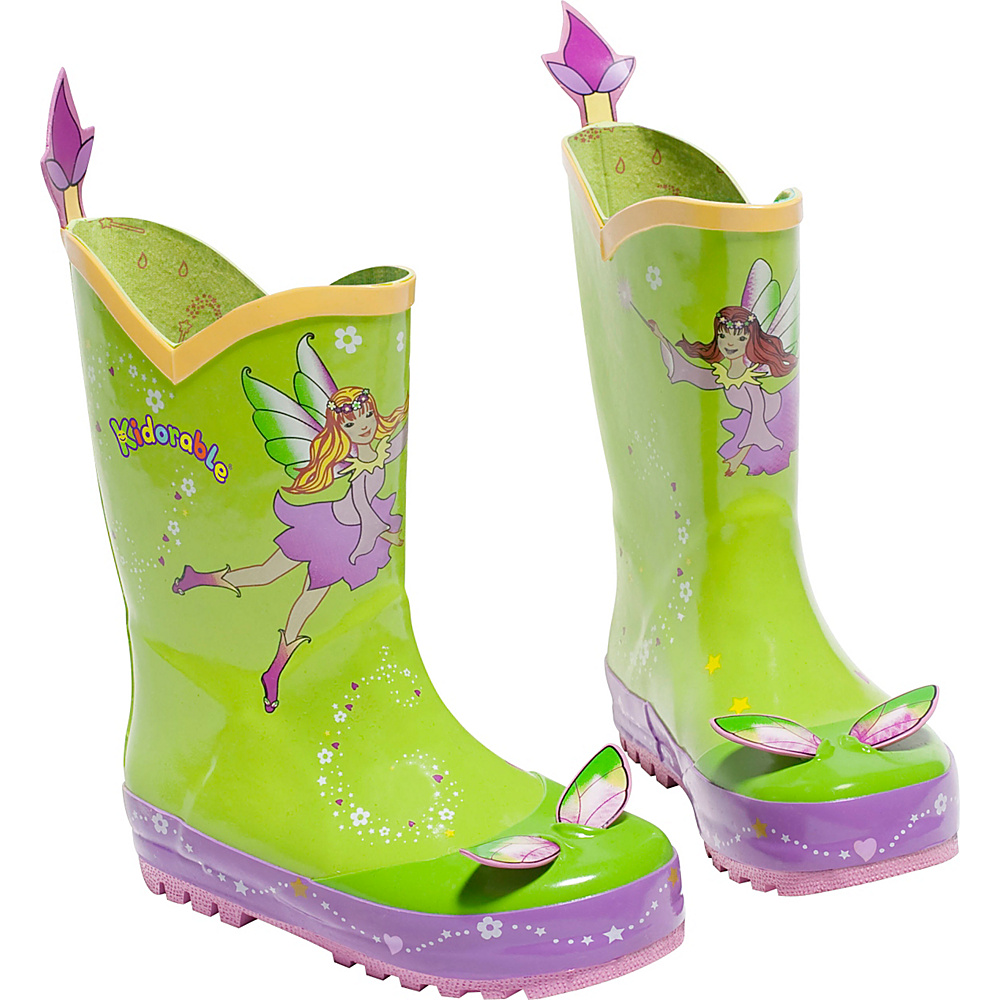 Kidorable Fairy Rain Boots 2 (US Kids) - M (Regular/Medium) - Green - Kidorable Womens Footwear - Apparel & Footwear, Women's Footwear