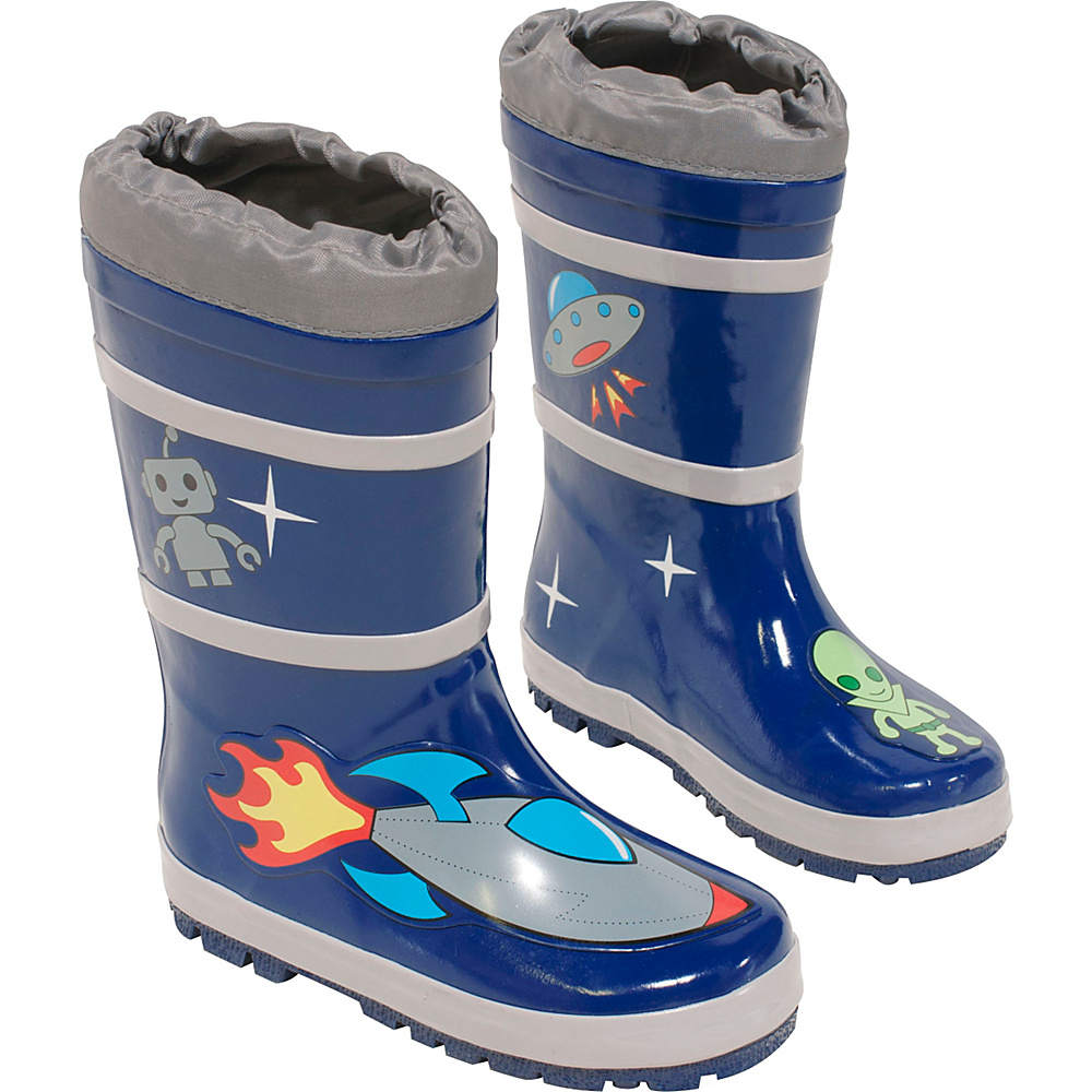 Kidorable Space Hero Rain Boots 2 (US Kids) - M (Regular/Medium) - Blue - Kidorable Mens Footwear - Apparel & Footwear, Men's Footwear