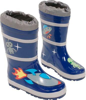 Kidorable Space Hero Rain Boots 12 (US Kid's) - M (Regular/Medium) - Blue - Kidorable Men's Footwear