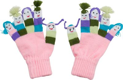 Kidorable Girls Knit Gloves L - Pink - Kidorable Hats/Gloves/Scarves