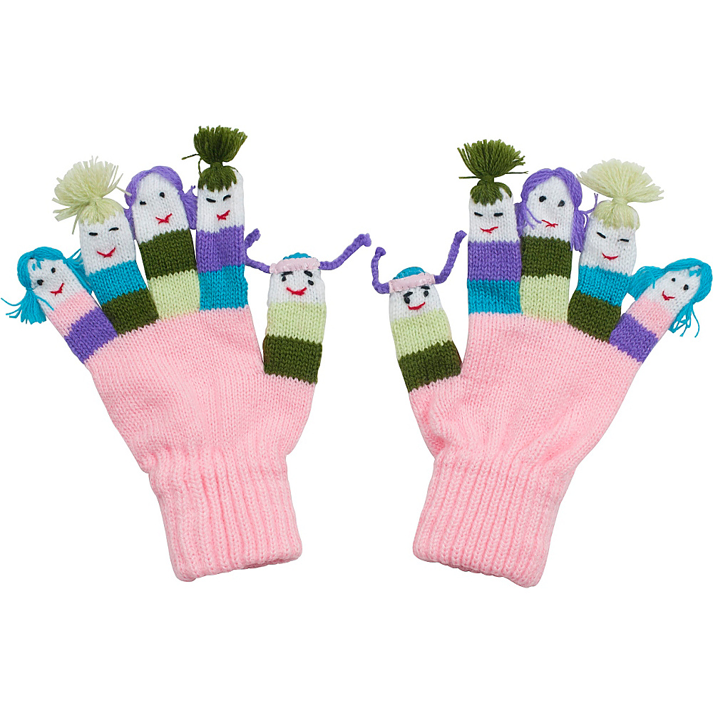 Kidorable Girls Knit Gloves Pink Medium Kidorable Hats Gloves Scarves