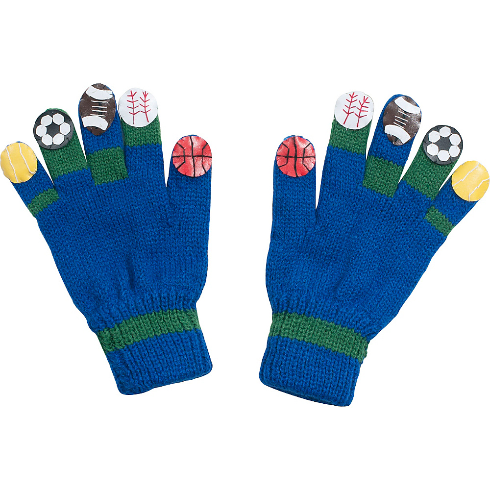 Kidorable Sport Knit Gloves L - Blue - Kidorable Hats/Gloves/Scarves - Fashion Accessories, Hats/Gloves/Scarves