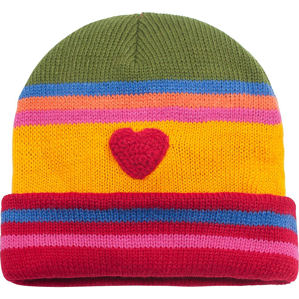 Kidorable Heart Knit Hat Yellow One Size Kidorable Hats Gloves Scarves