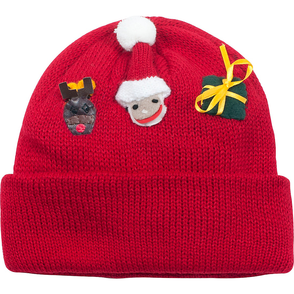 Kidorable Xmas Knit Hat One Size - Red - Kidorable Hats/Gloves/Scarves - Fashion Accessories, Hats/Gloves/Scarves