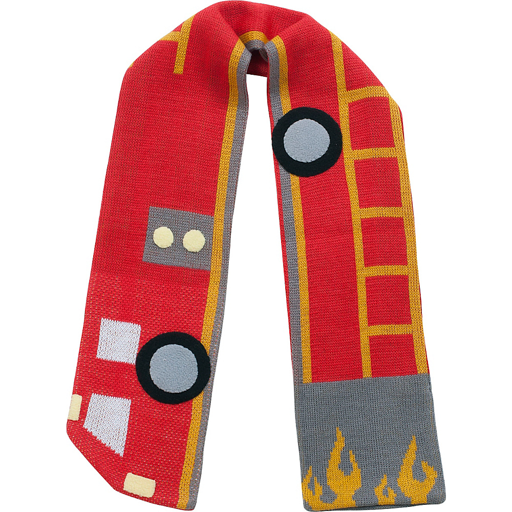 Kidorable Fireman Knit Scarf Red - One Size - Kidorable Hats/Gloves/Scarves - Fashion Accessories, Hats/Gloves/Scarves