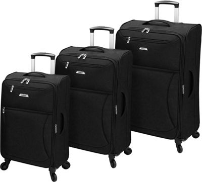 Leisure Luggage Leisure Luggage Vector 3 Piece Set Black - Leisure Luggage Luggage Sets
