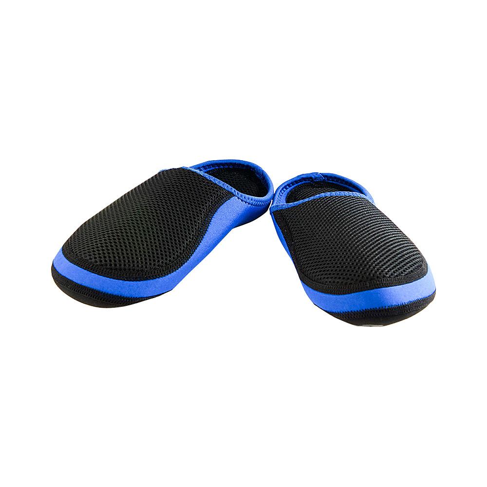 NuFoot Cushies Travel Slippers Royal Mesh Black Trim Large NuFoot Women s Footwear