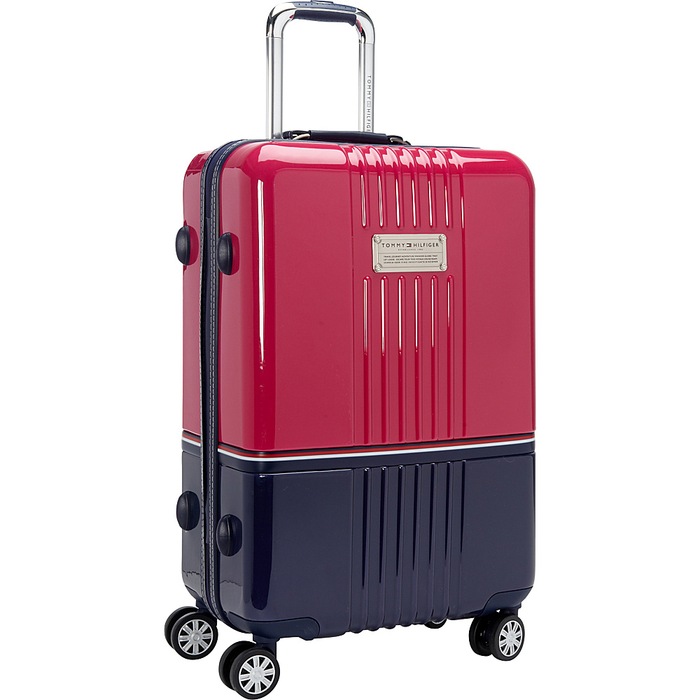 Tommy Hilfiger Luggage Duo Chrome 24 Hardside Upright Spinner Pink Navy Tommy Hilfiger Luggage Softside Checked
