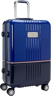 Tommy Hilfiger Luggage Duo-Chrome 24 Hardside Upright Spinner Royal/Navy - Tommy Hilfiger Luggage Softside Checked
