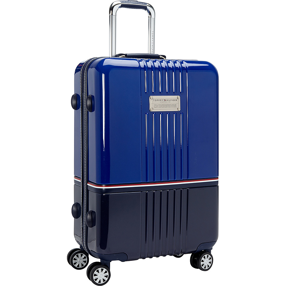 Tommy Hilfiger Luggage Duo Chrome 24 Hardside Upright Spinner Royal Navy Tommy Hilfiger Luggage Softside Checked