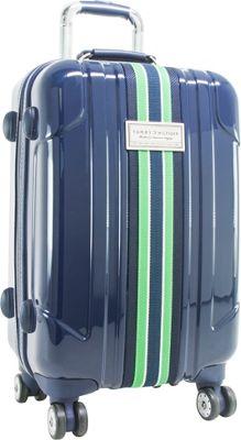 Tommy Hilfiger Luggage Santa Monica 28 inch Hardside Upright Spinner Navy - Tommy Hilfiger Luggage Hardside Checked