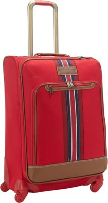 Tommy Hilfiger Luggage Nantucket 25 Exp. Upright Spinner Red - Tommy Hilfiger Luggage Softside Checked