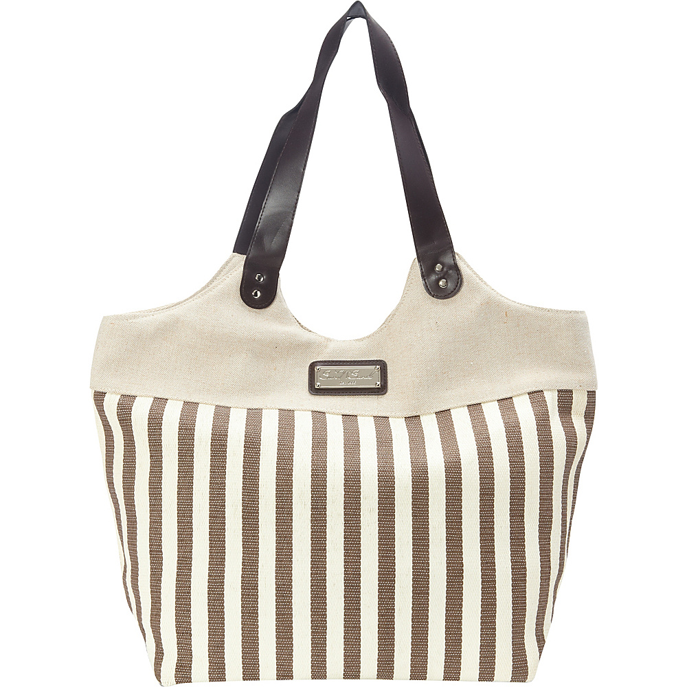 Sun N Sand Ships Harbor Tote Brown - Sun N Sand Fabric Handbags - Handbags, Fabric Handbags