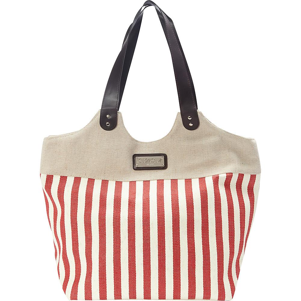 Sun N Sand Ships Harbor Tote Red - Sun N Sand Fabric Handbags - Handbags, Fabric Handbags