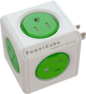 PowerCube Original Cable And Adapter Kelly Green - PowerCube Electronic Accessories