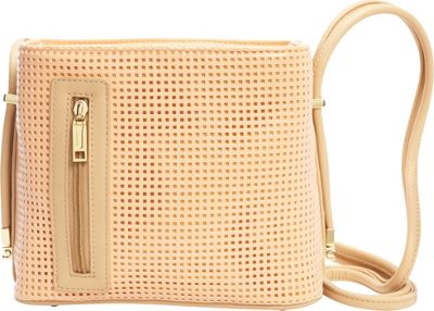 Samoe Samoe Crossbody Convertible Handbag Sweet Melon Perforated/ Bisque CB - Samoe Manmade Handbags