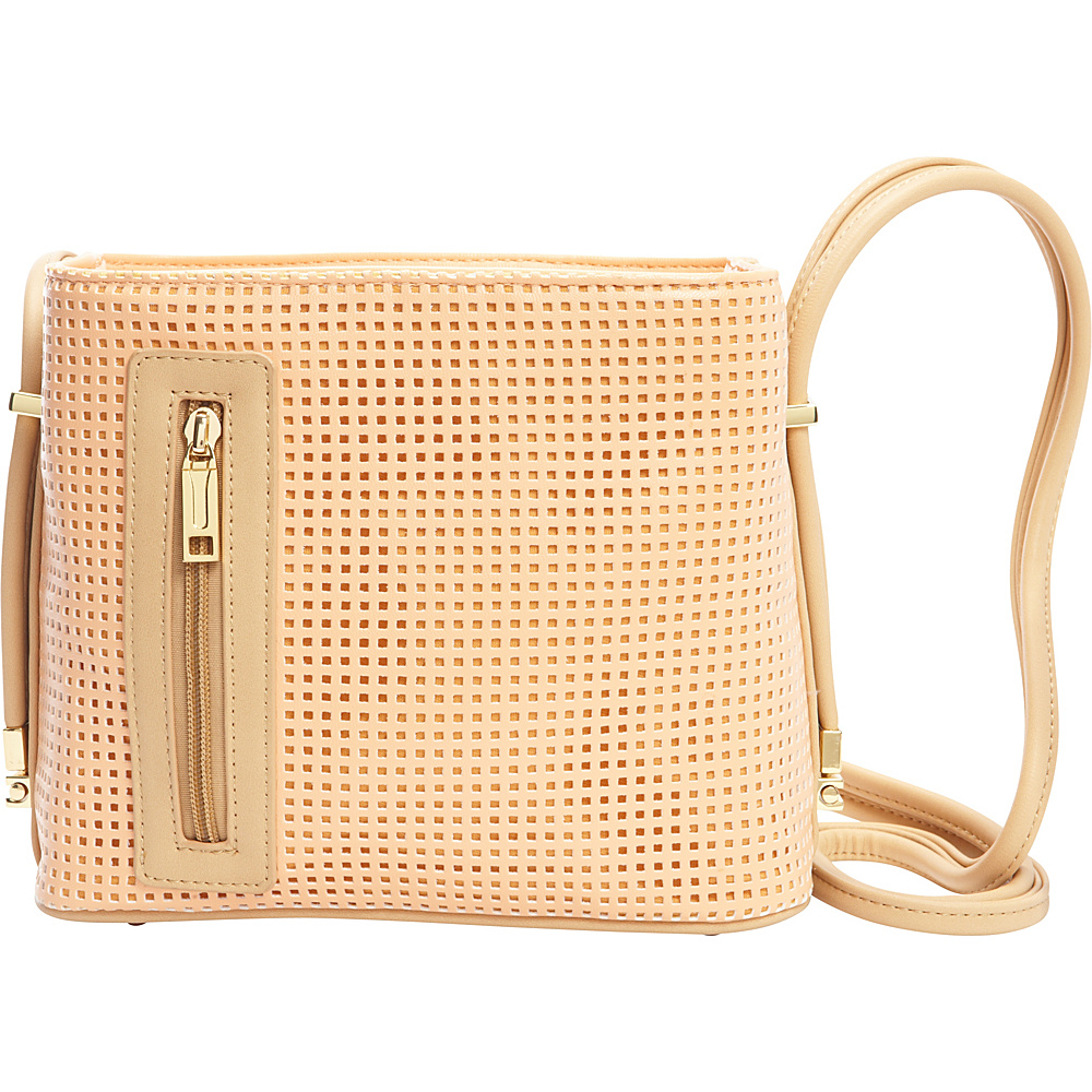 Samoe Crossbody Convertible Handbag Sweet Melon Perforated Bisque CB Samoe Manmade Handbags