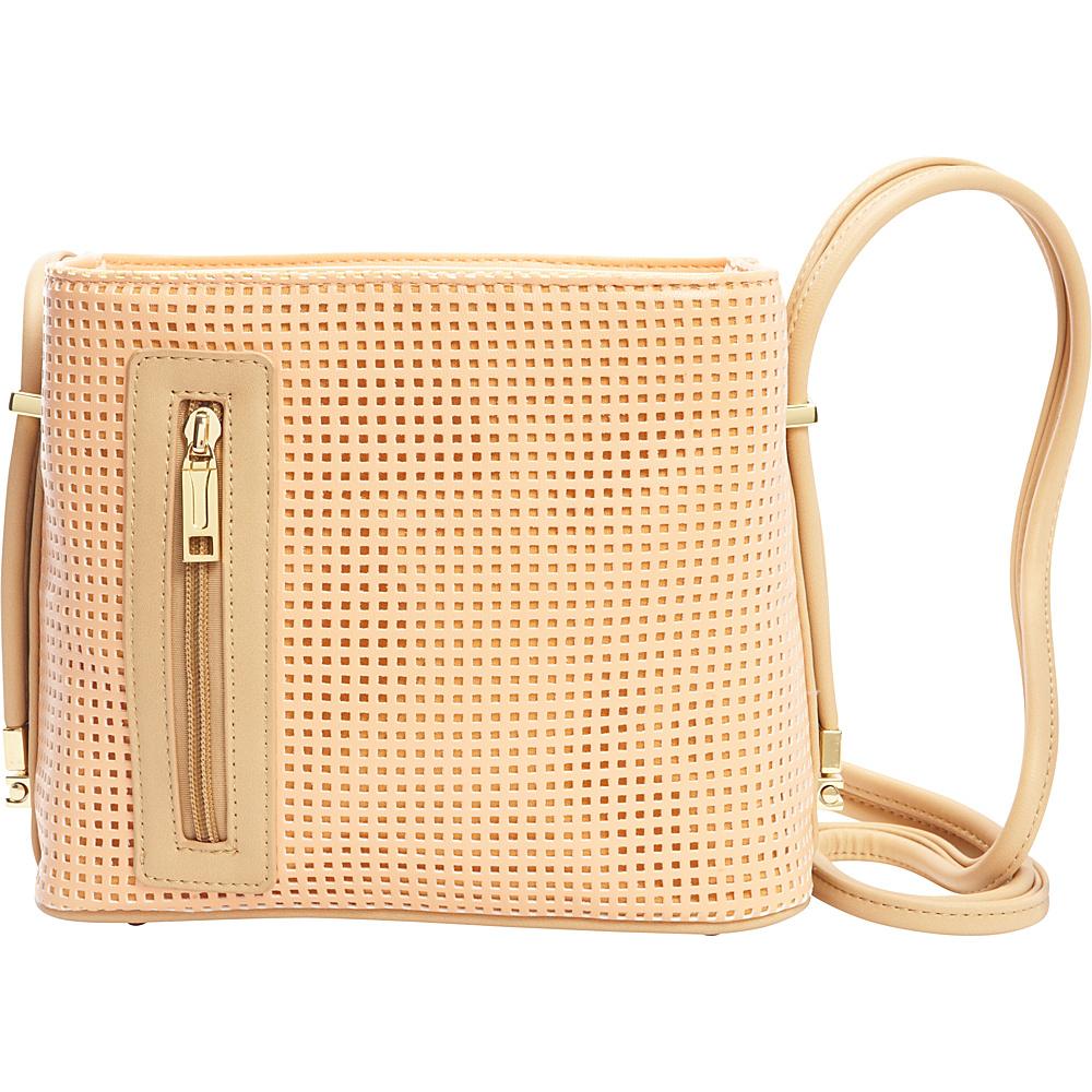 62ed6fa8036 Samoe Crossbody Convertible Handbag Sweet Melon Perforated  Bisque CB -  Samoe Manmade Handbags