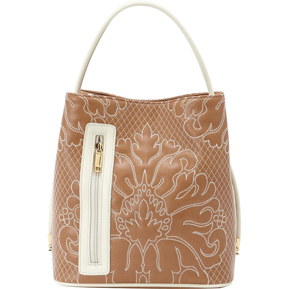 Samoe Classic Convertible Handbag Desert Sand Cream Trapunto Cream CL Samoe Manmade Handbags