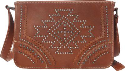 Montana West Southwestern Crossbody Bag Brown - Montana West Leather Handbags