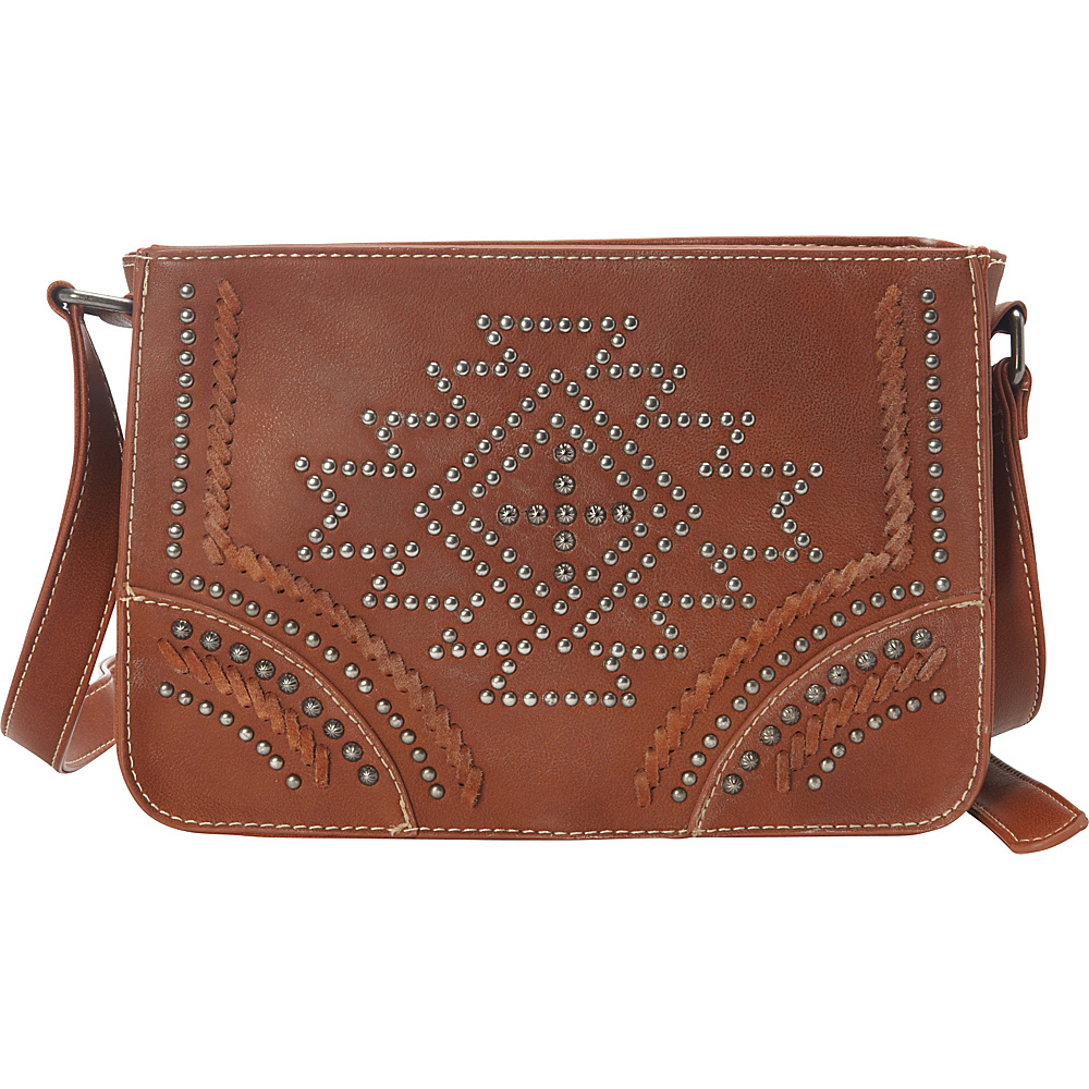 Montana West Southwestern Crossbody Bag Brown Montana West Leather Handbags