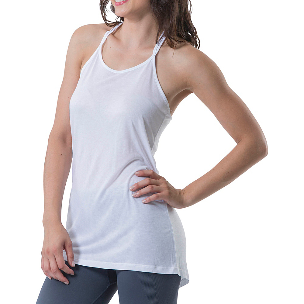 Electric Yoga Braided Top L White Electric Yoga Women s Apparel