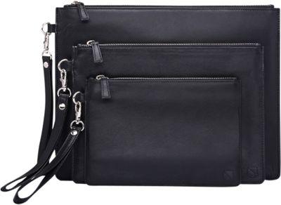 Silent Pocket V2 XL Faraday Clutch Dual Bag Black - Silent Pocket Travel Wallets