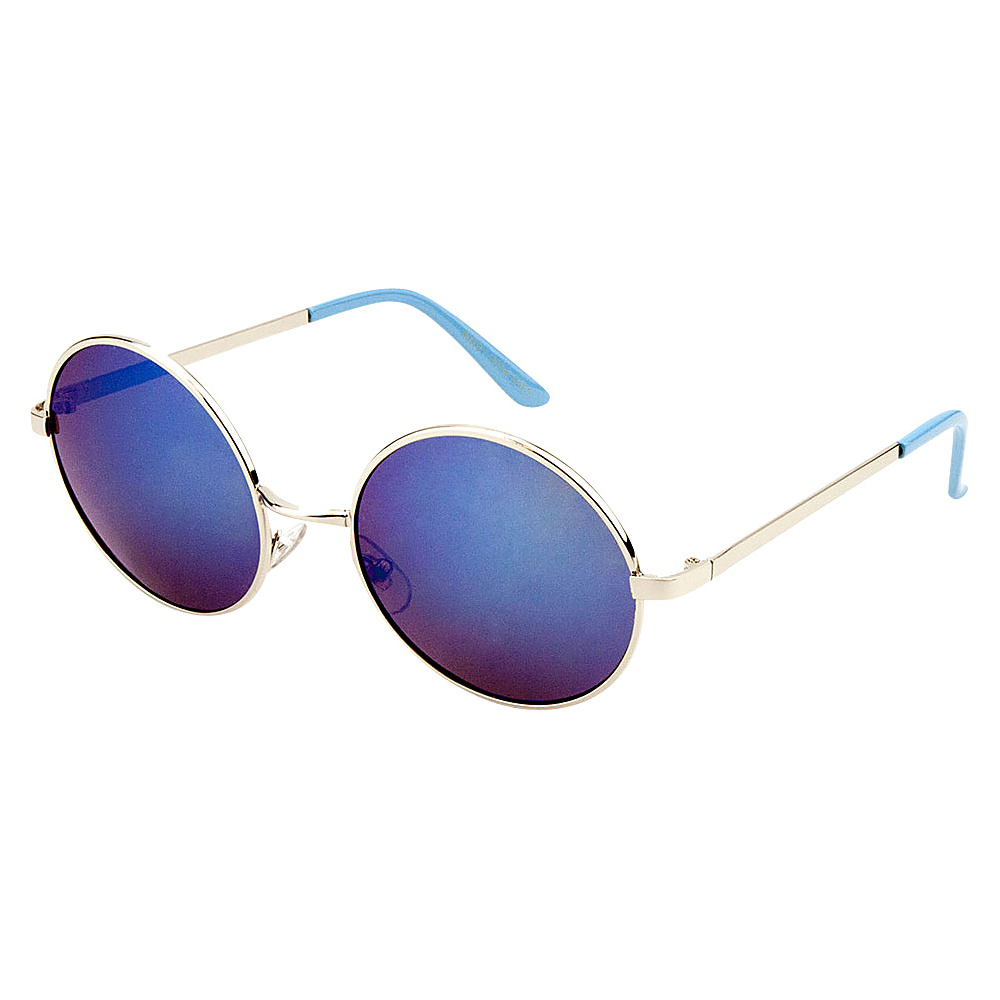 SW Global Eyewear Cena Round Fashion Sunglasses Blue - SW Global Sunglasses - Fashion Accessories, Sunglasses