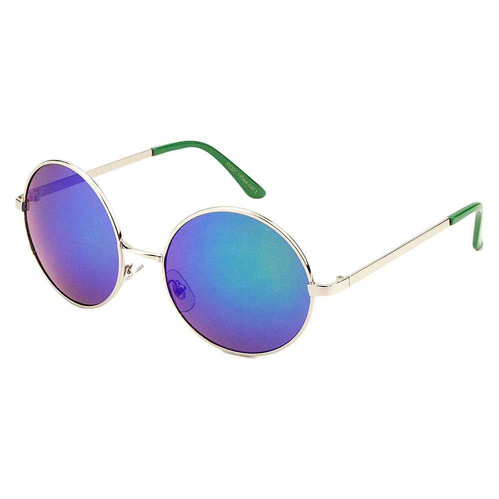 SW Global Eyewear Cena Round Fashion Sunglasses Green - SW Global Sunglasses - Fashion Accessories, Sunglasses