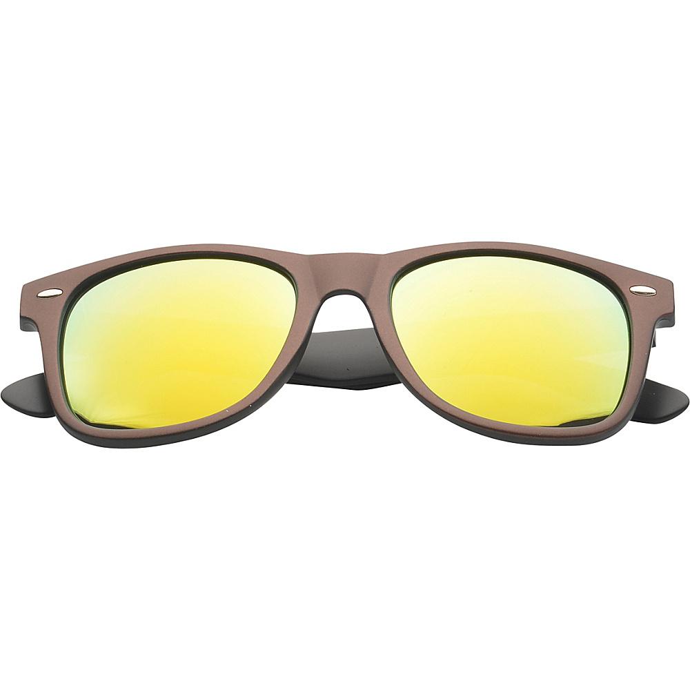 SW Global Eyewear Aaron Retro Square Fashion Sunglasses Brown - SW Global Sunglasses - Fashion Accessories, Sunglasses