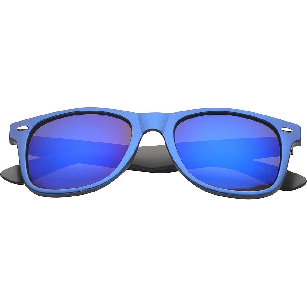 SW Global Eyewear Aaron Retro Square Fashion Sunglasses Blue - SW Global Sunglasses - Fashion Accessories, Sunglasses