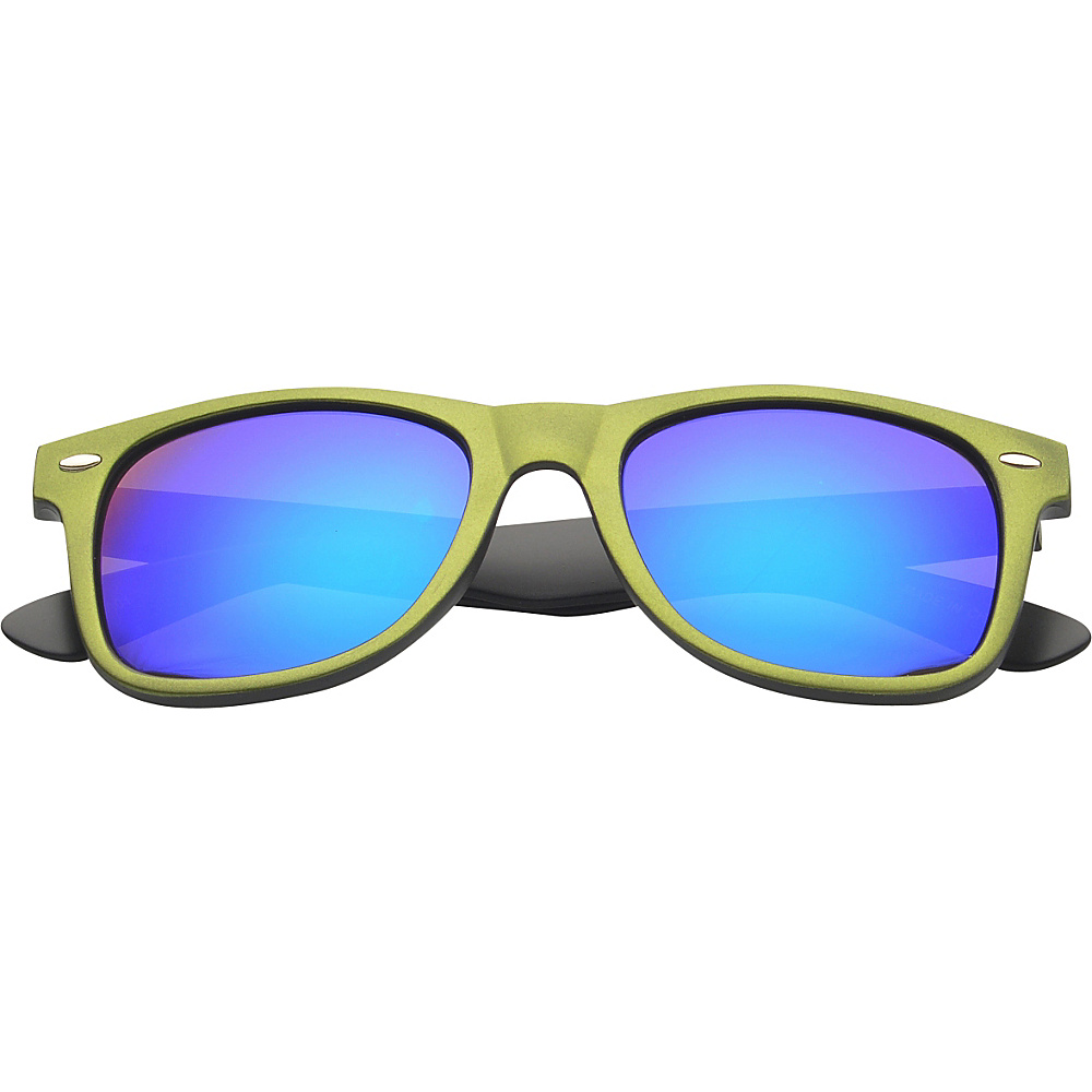 SW Global Eyewear Aaron Retro Square Fashion Sunglasses Green - SW Global Sunglasses - Fashion Accessories, Sunglasses