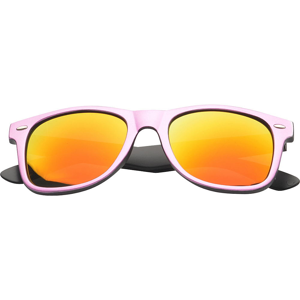 SW Global Eyewear Aaron Retro Square Fashion Sunglasses Pink SW Global Sunglasses