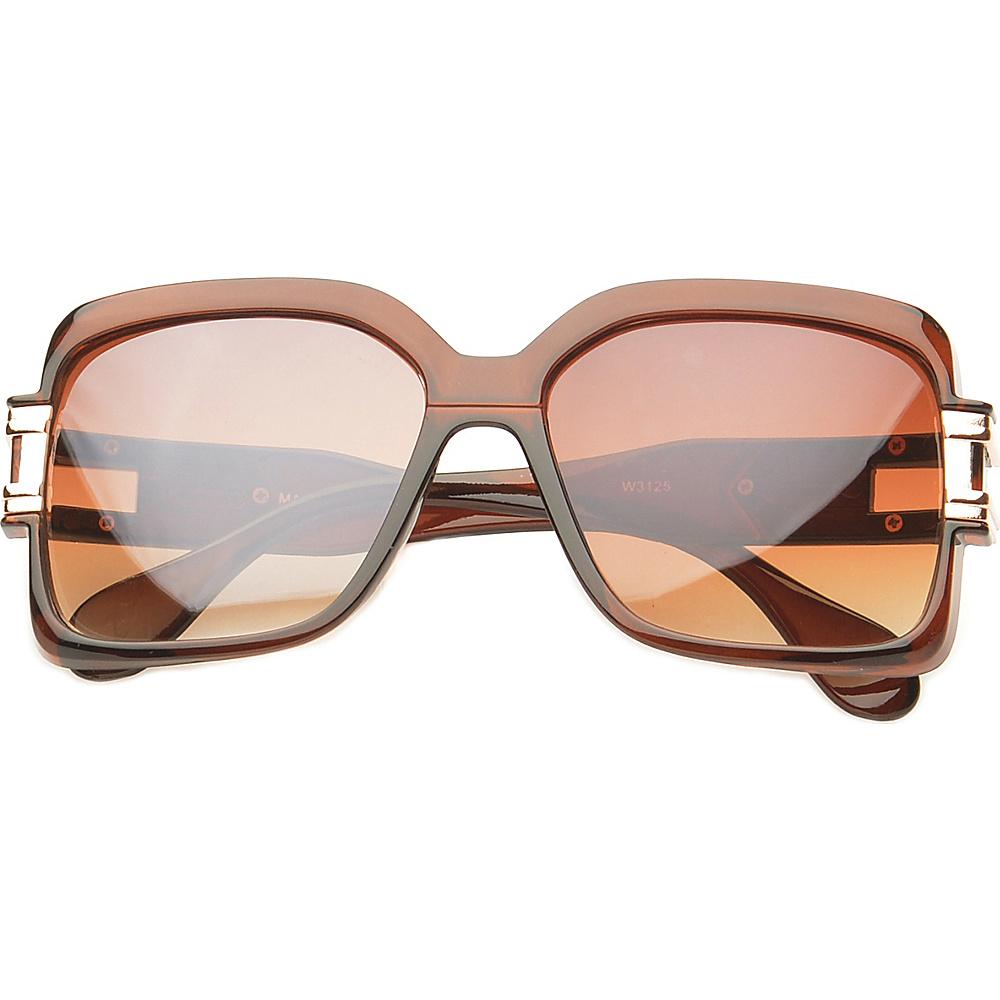 SW Global Eyewear Remington Square Fashion Sunglasses Brown - SW Global Sunglasses - Fashion Accessories, Sunglasses