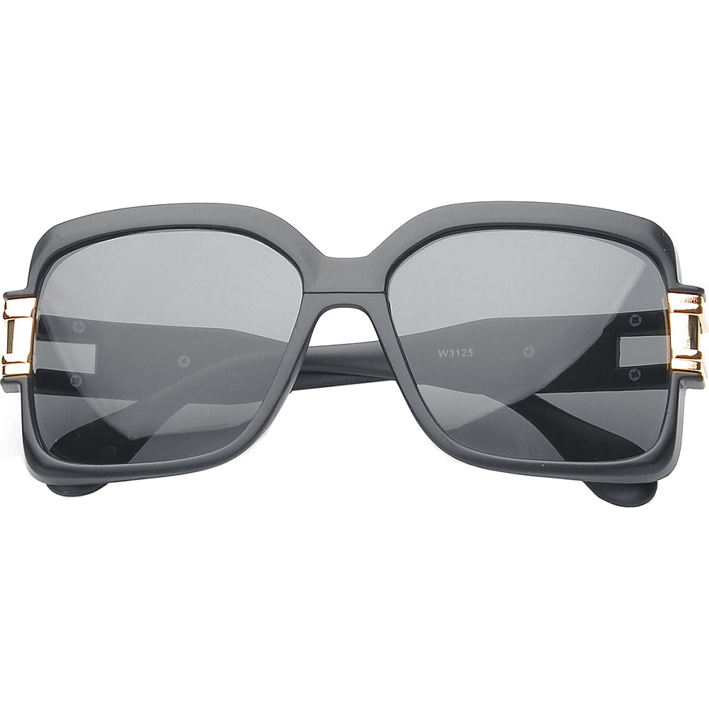 SW Global Eyewear Remington Square Fashion Sunglasses Matte Black SW Global Sunglasses