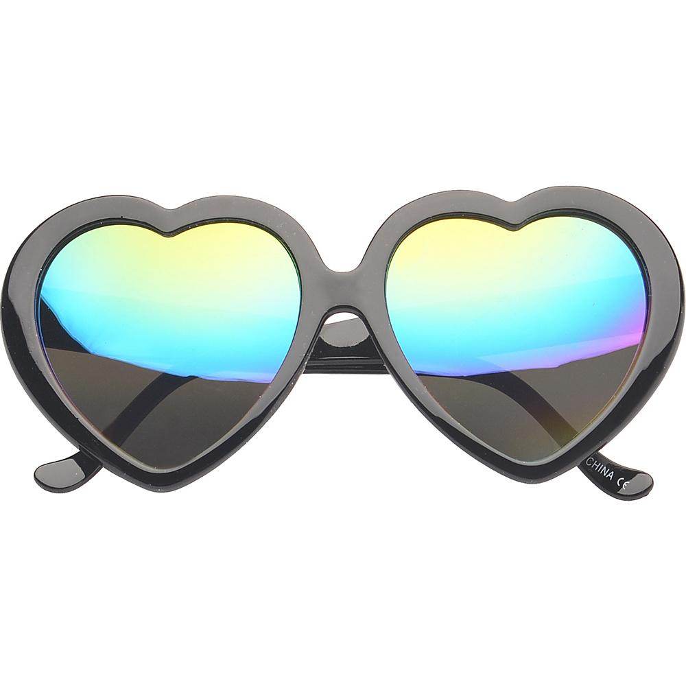 SW Global Eyewear Melville Heart Fashion Sunglasses Black - SW Global Sunglasses - Fashion Accessories, Sunglasses