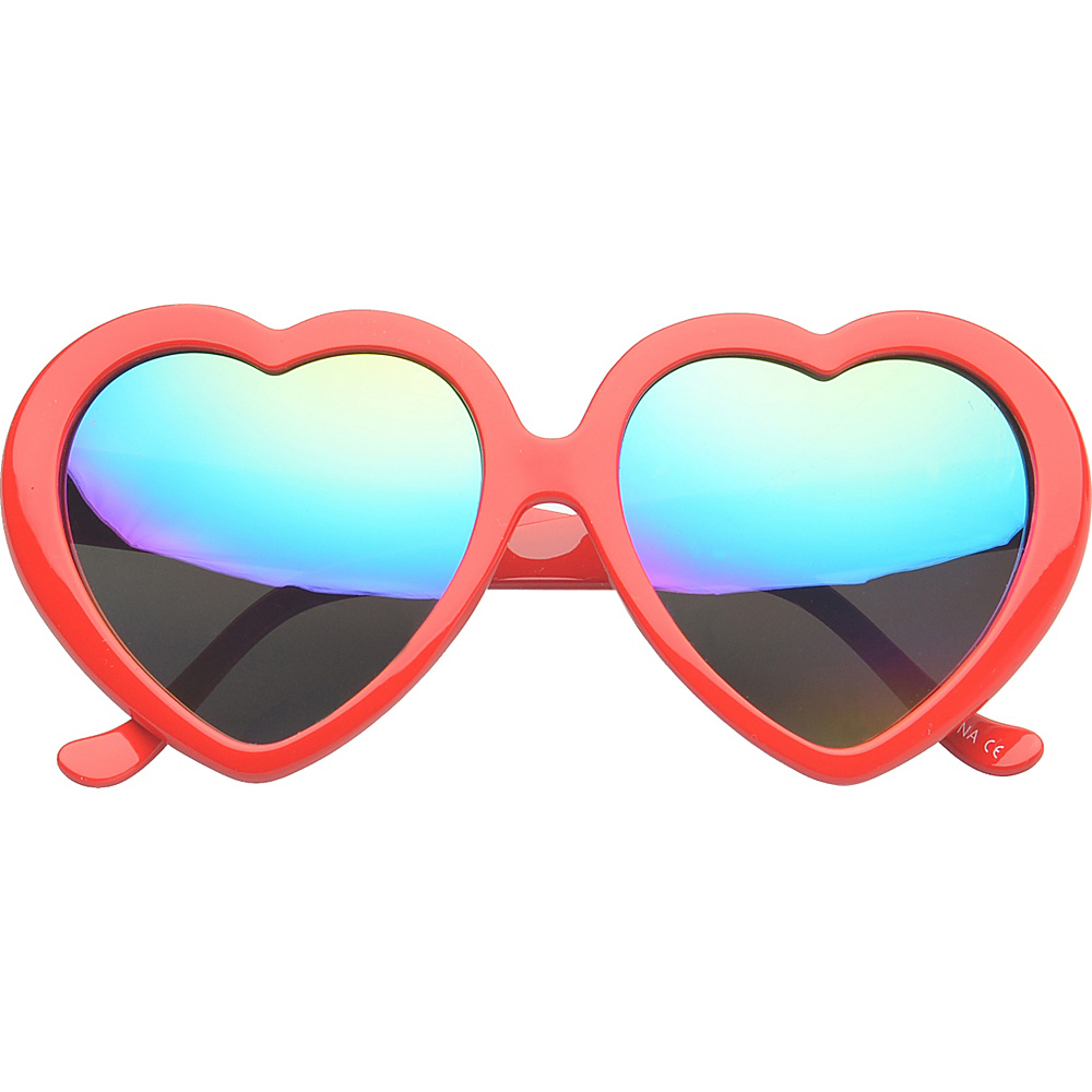 SW Global Eyewear Melville Heart Fashion Sunglasses Red - SW Global Sunglasses - Fashion Accessories, Sunglasses