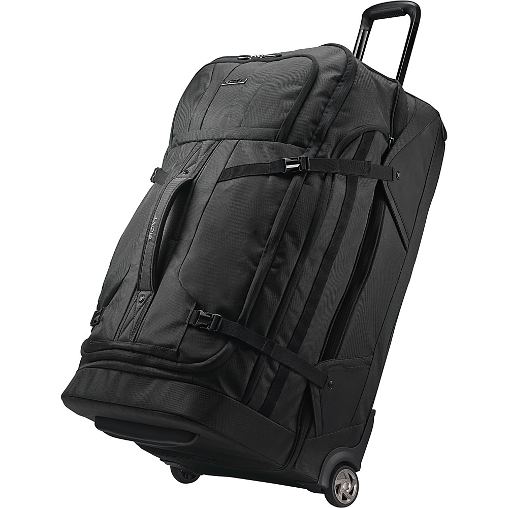 Boyt Edge Softside 30 Drop Bottom Wheeled Duffel Deep Black - Boyt Wheeled Duffels