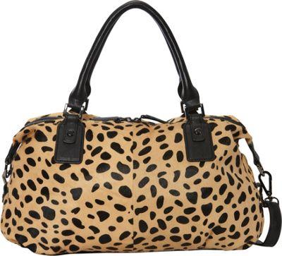 MOFE Urbane Satchel Cheetah Pony Hair - MOFE Leather Handbags