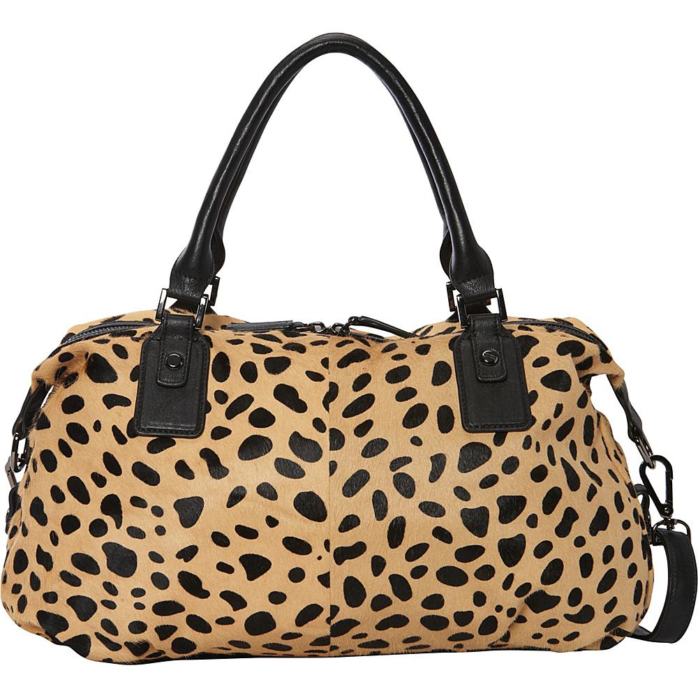 MOFE Urbane Satchel Cheetah Pony Hair MOFE Leather Handbags