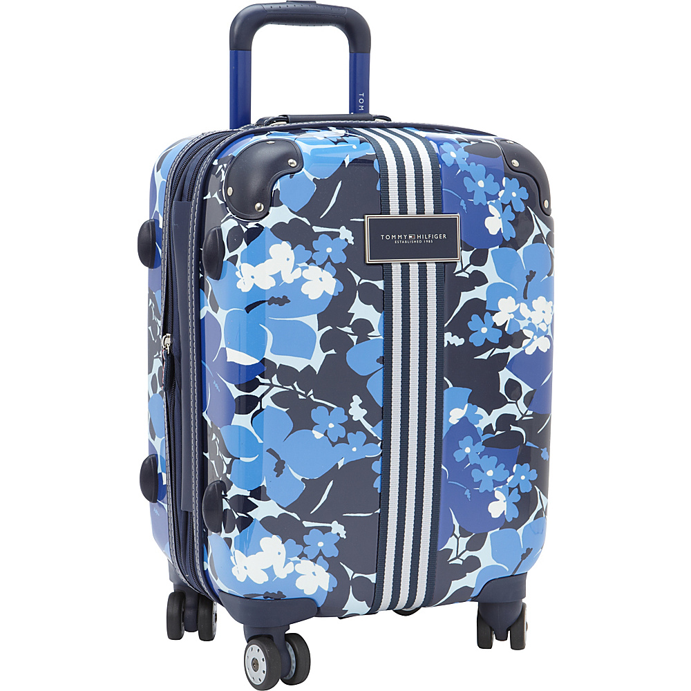 Tommy Hilfiger Luggage Floral 21 Carry On Exp. Hardside Spinner Blue Tommy Hilfiger Luggage Hardside Carry On