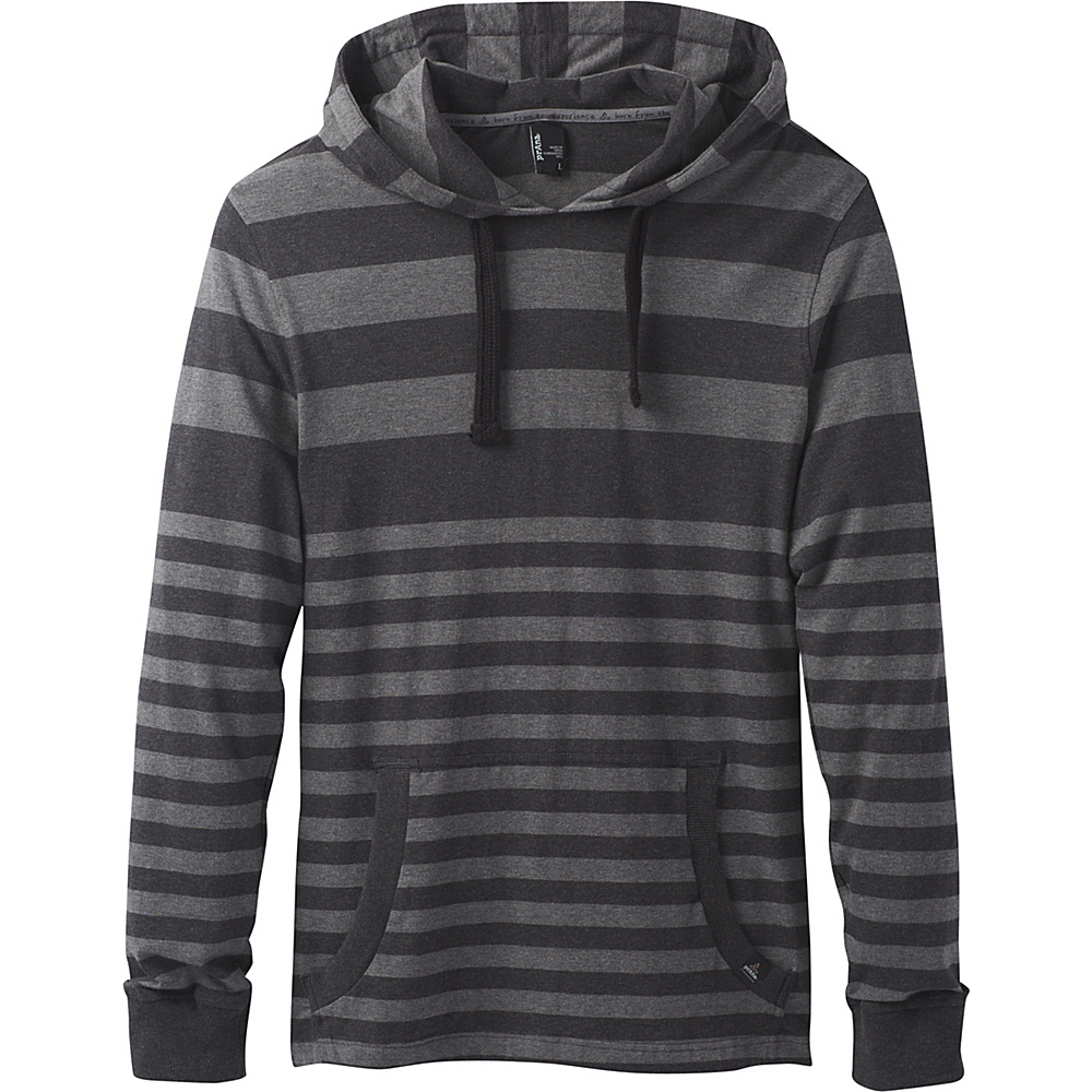 PrAna Setu Hoodie L - Coal Stripe - PrAna Mens Apparel - Apparel & Footwear, Men's Apparel