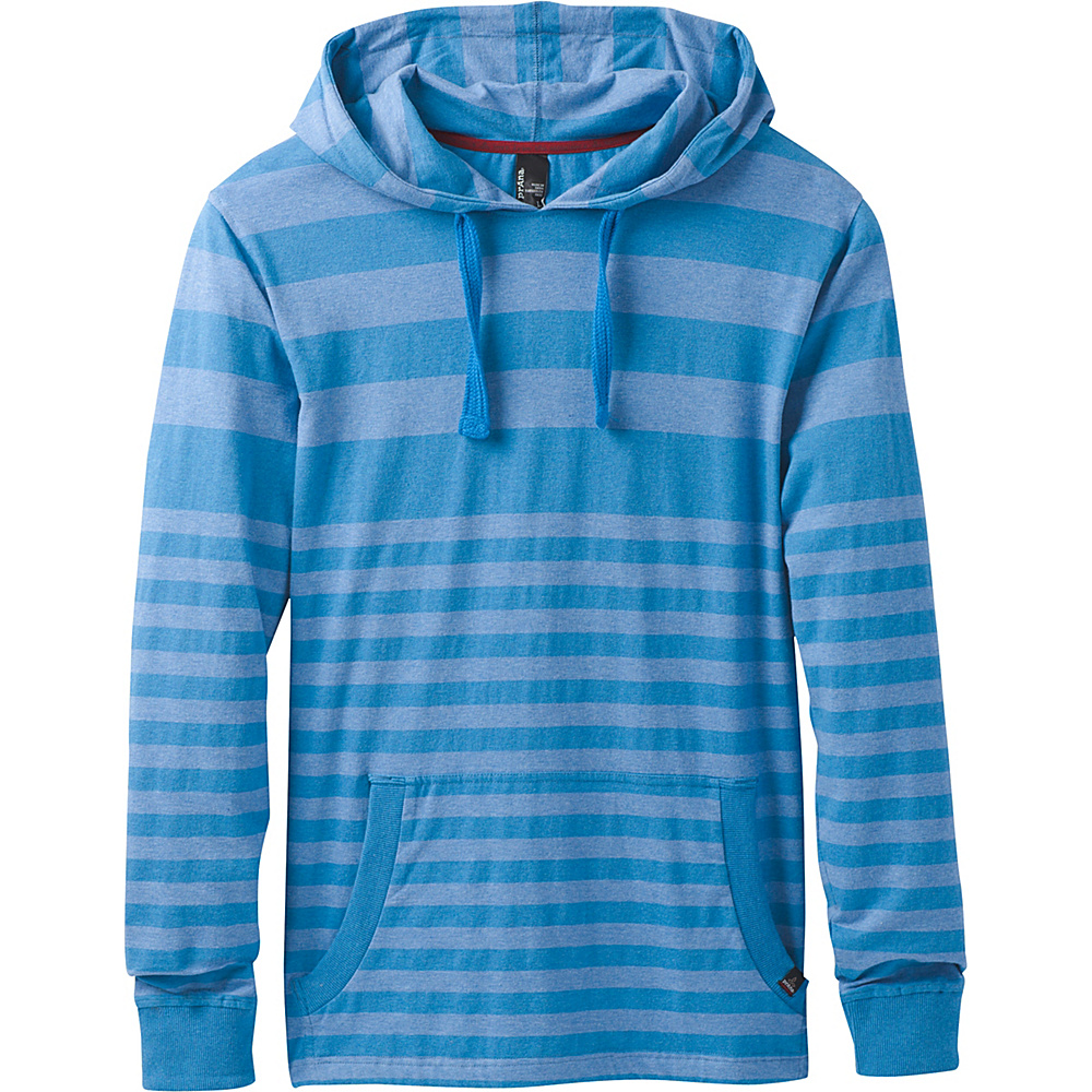 PrAna Setu Hoodie XL - Future Blue Stripe - PrAna Mens Apparel - Apparel & Footwear, Men's Apparel